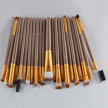 22 Pcs Nylon Facial Eye Lip Makeup Brushes Set -  GOLDEN