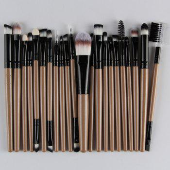 22 Pcs Nylon Facial Eye Lip Makeup Brushes Set - CHAMPAGNE GOLD CHAMPAGNE GOLD