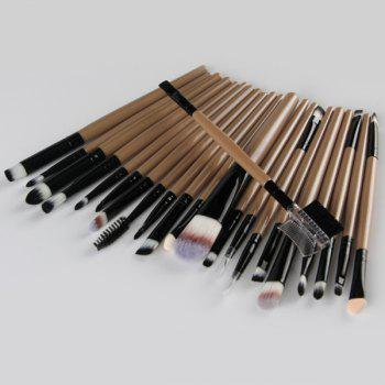 22 Pcs Nylon Facial Eye Lip Makeup Brushes Set -  CHAMPAGNE GOLD