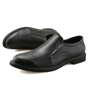 Slip On Engraving Shoes - Noir 42