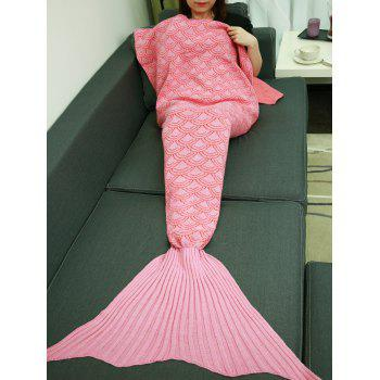 Warm Soft Fish Scale Design Sofa Wrap Mermaid Blanket