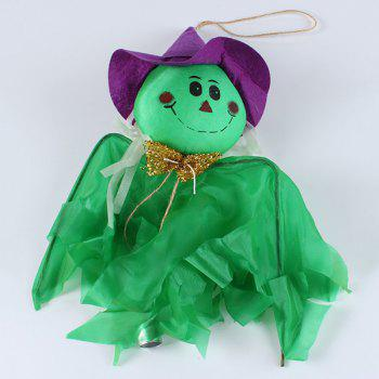 Halloween Party Supplies Ghost Witch Hanging Decoration - GREEN GREEN