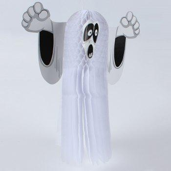 Halloween Party Supplies Ghost Pattern Hanging Decoration - WHITE WHITE