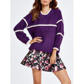 Chunky Sweater and Rose Skirt Set