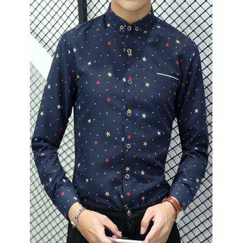 Polka Dot Star Printed Long Sleeve Shirt