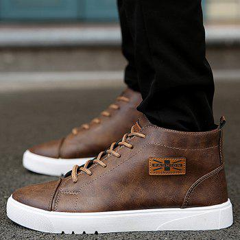 Lace Up Appliqued Vintage Casual Shoes