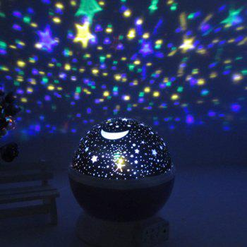 Colorful Babysbreath Sky Autorotation LED Night Light -  BLUE
