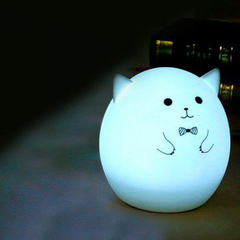 Colorful Pig Cartoon USB Charging Ombre LED Night Light -  WHITE