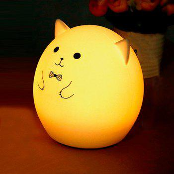 Colorful Pig Cartoon USB Charging Ombre LED Night Light - WHITE WHITE