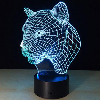 Christmas Festival 3D Leopard Head Shape Touch Colorful Night Light -  TRANSPARENT