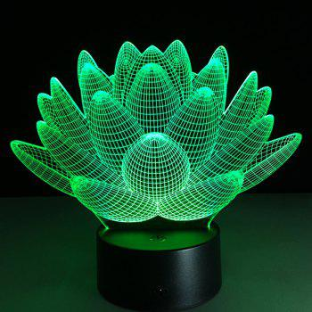 Christmas Festival 3D Lotus Flower Shape Touch Colorful Night Light - TRANSPARENT TRANSPARENT