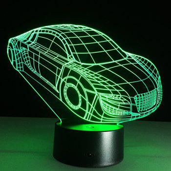 Christmas Festival 3D Small Car Shape Touch Colorful Night Light - TRANSPARENT TRANSPARENT
