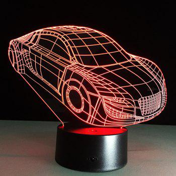 Christmas Festival 3D Small Car Shape Touch Colorful Night Light -  TRANSPARENT