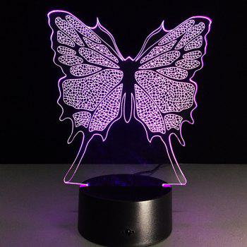 Festival 3D Butterfly Shape Touch Colorful Night Light - TRANSPARENT TRANSPARENT