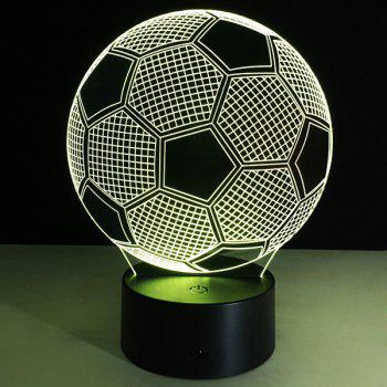 Christmas Festival 3D Football Shape Touch Colorful Night Light - TRANSPARENT TRANSPARENT