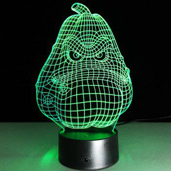Halloween Festival 3D Funny Potato Shape Touch Colorful Night Light -  TRANSPARENT