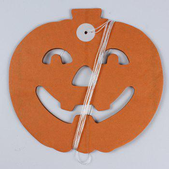 Halloween Party Supplies Paper Pumpkin Cutting Prop Decoration - BLACK/ORANGE