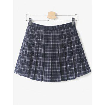 Checked Pleated Mini Skirt