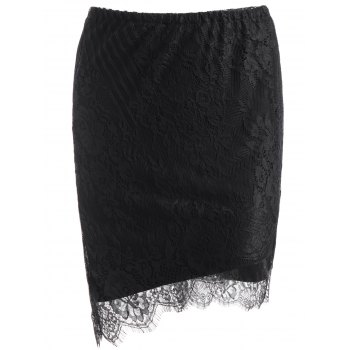 Asymmetric Lace Skirt