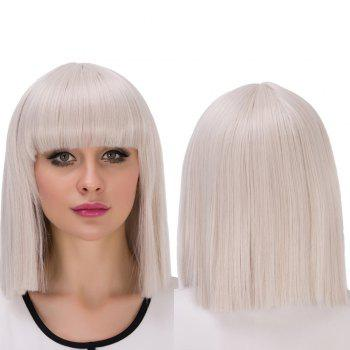 Prevailing Short Full Bang Bob Haircut Cosplay Synthetic Wig