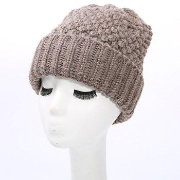 Flanging Crochet Thicken Knit Beanie