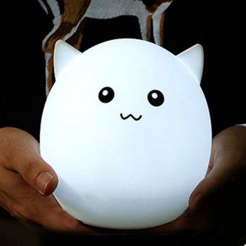 Colorful Ombre Pig Silica Gel de recharge USB LED Light Night - Blanc