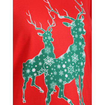 Elk Pattern Christmas T-Shirt - M M