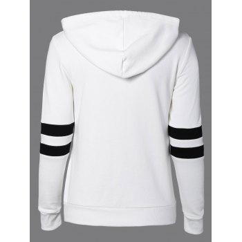 Long Sleeve Sports Color Block Hoodie - L L