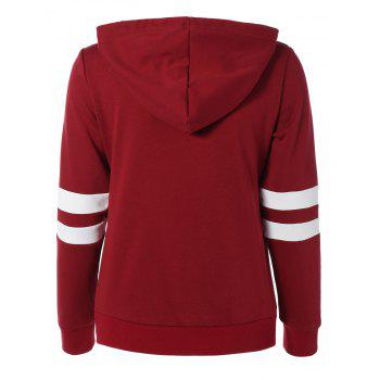 Long Sleeve Sports Color Block Hoodie - 2XL 2XL