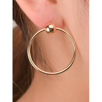 Bead Round Circle Earrings