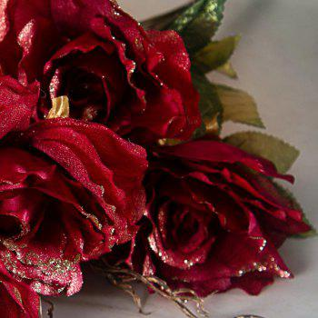 Real Touch Artificial Rose Flower Craft Decoration -  RED