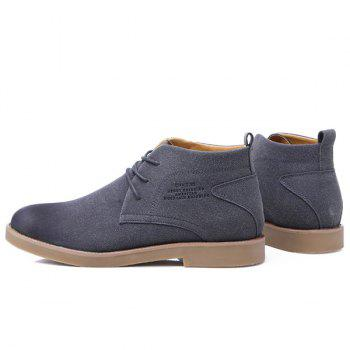 Pointed Toe Tie Up Casual Shoes - GRAY 43