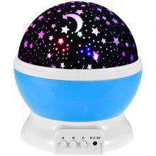 Colorful Babysbreath Sky Autorotation LED Night Light