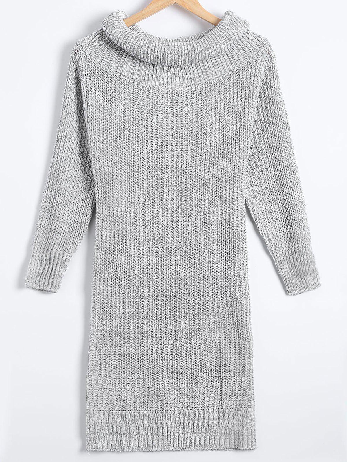 Gaine Pull à col roulé Robe - Gris Clair ONE SIZE