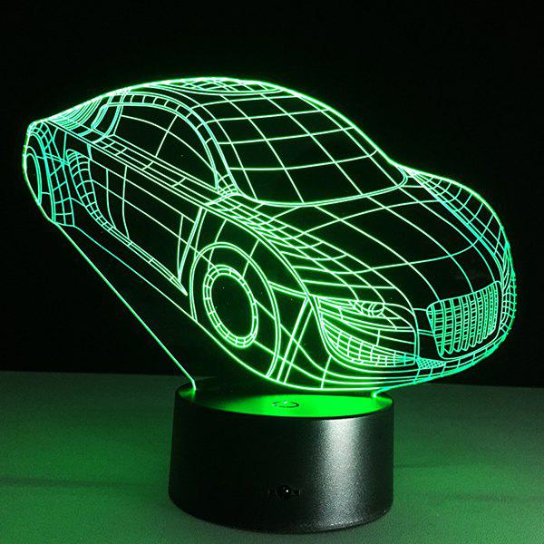 Christmas Festival 3D Small Car Shape Touch Colorful Night Light