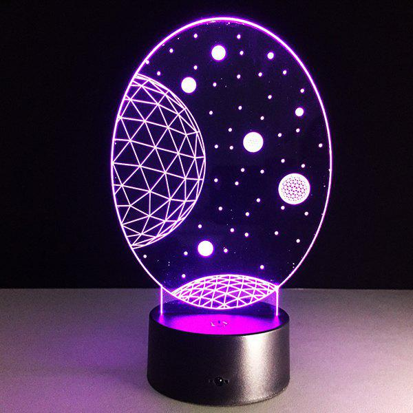 Christmas Festival 3D Galaxy Shape Touch Colorful Night Light - TRANSPARENT