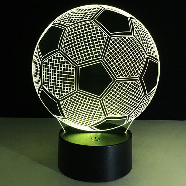Christmas Festival 3D Football Shape Touch Colorful Night Light - TRANSPARENT