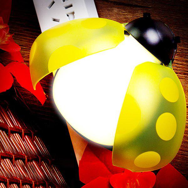 Remote Control Bedside Desk LED Beetle Cartoon Night Light - YELLOW