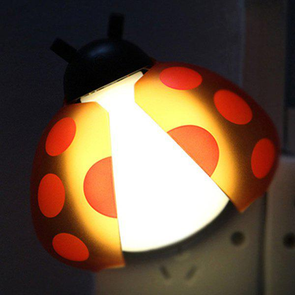 Télécommande chevet bureau LED Beetle Cartoon Night Light - Rouge