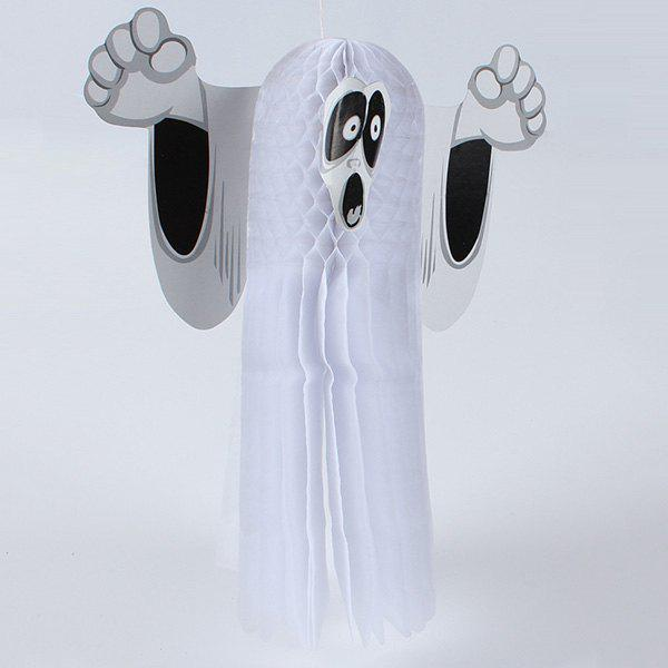 Halloween Party Supplies Ghost Pattern Hanging Decoration - WHITE