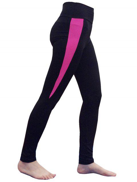 Quick Dry High Waist Yoga Leggings - ROSE RED ONE SIZE