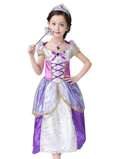 Halloween Robe Cosplay Princesse de Noël d'enfants - Pourpre 120