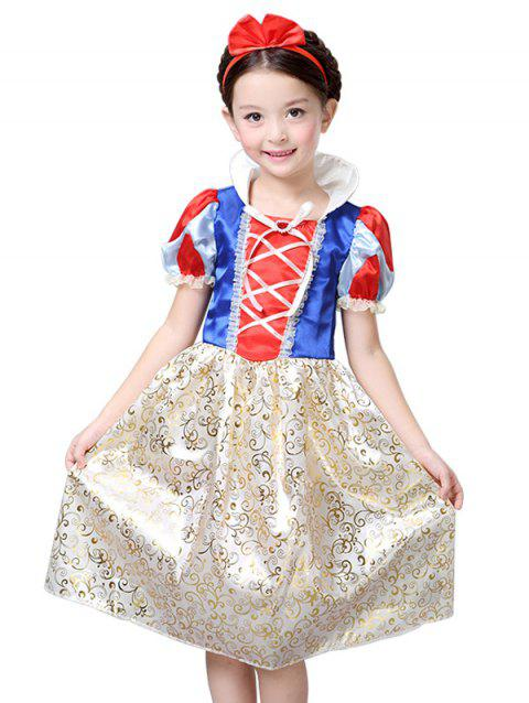 Kids Midi Halloween Christmas Princess Cosplay Dress - COLORMIX 110