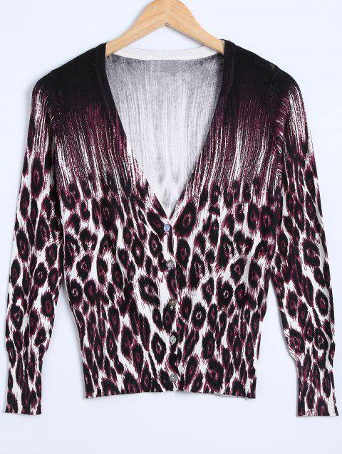 Leopard Printed Knitted Cardigan - LEOPARD ONE SIZE
