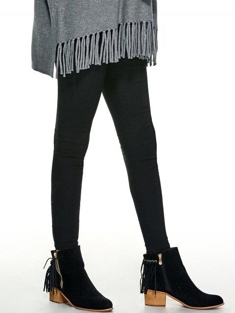 Pocket Design Skinny Pants - BLACK S