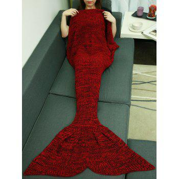 Christmas Design Sleeping Bag Knitting Fish Tail Blanket