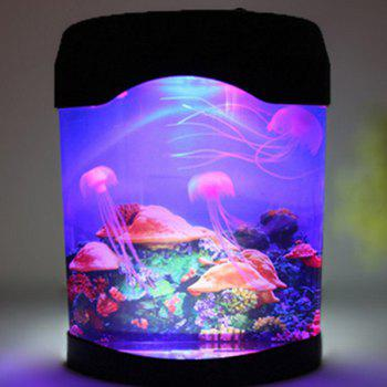 MultiColor Atmosphere LED Sea World Swimming Jellyfish Lamp Night Light