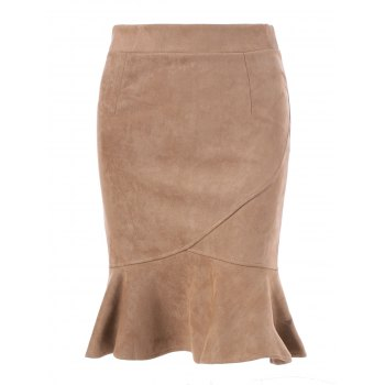 Suede High Waist Mermaid Skirt