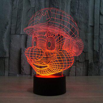 Novelty 3D Colorful Ombre LED Touching Night Light