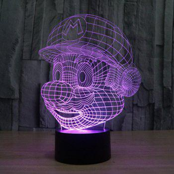 Novelty 3D Colorful Ombre LED Touching Night Light -  COLORFUL